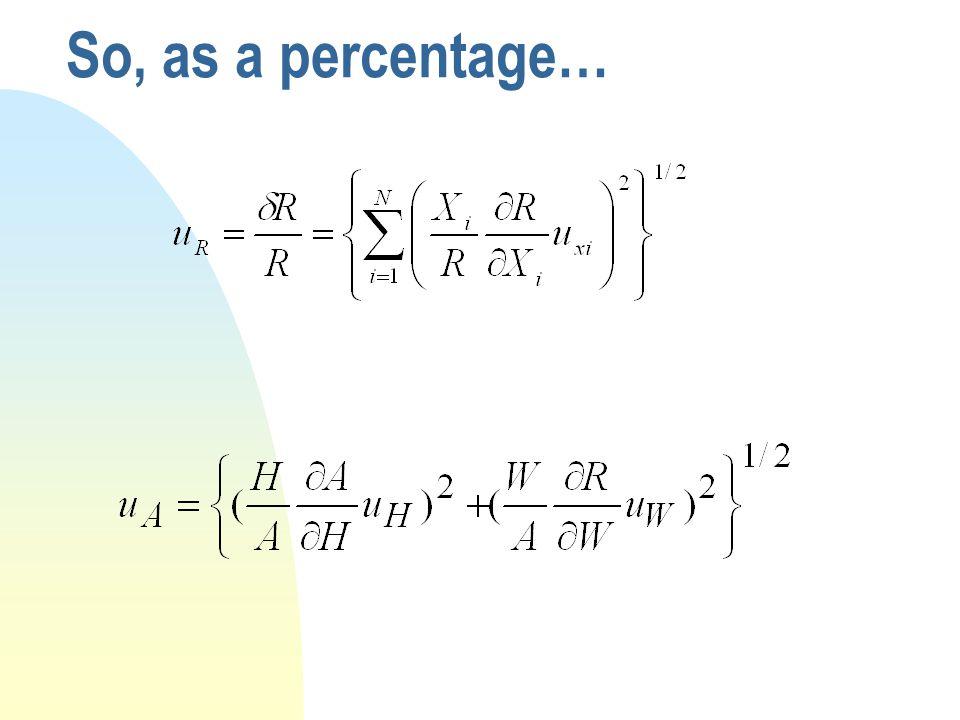 So, as a percentage…