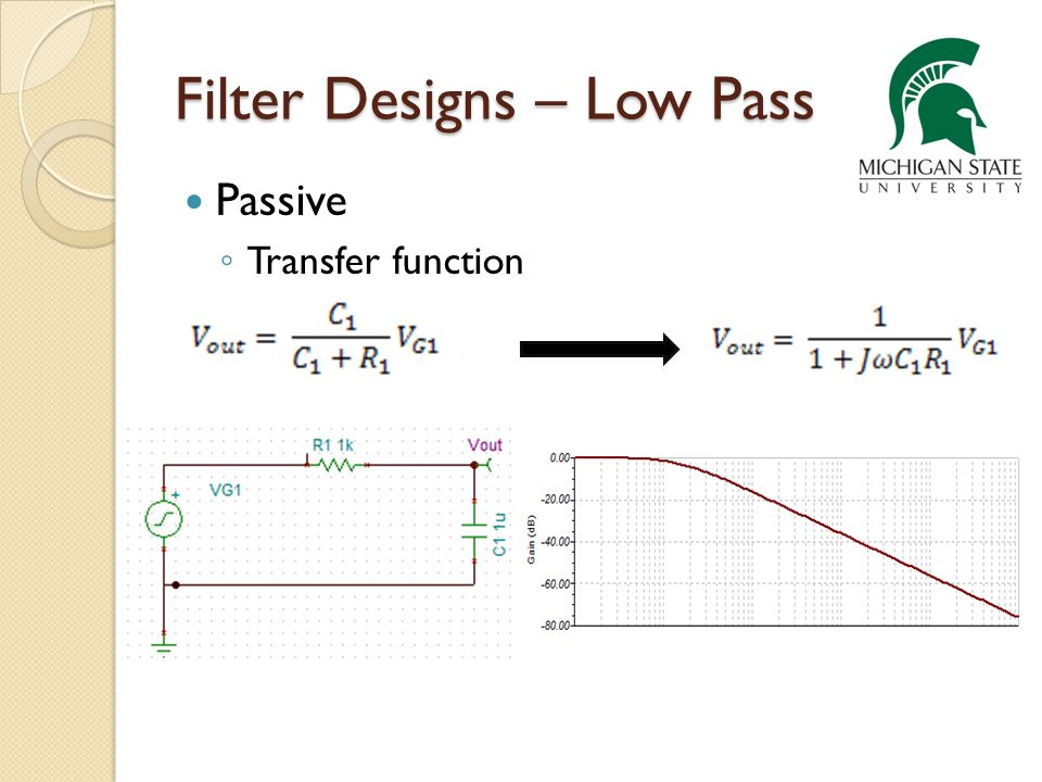 Active Filter Designs – Low Pass