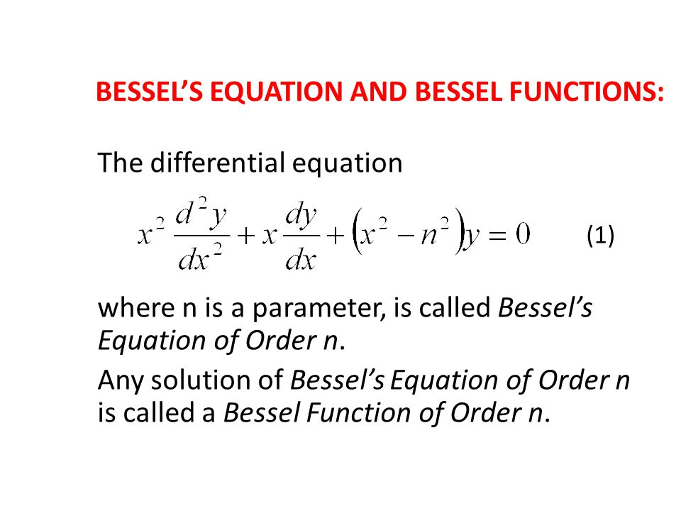 Modified Bessels Functions of the First Kind of Order n