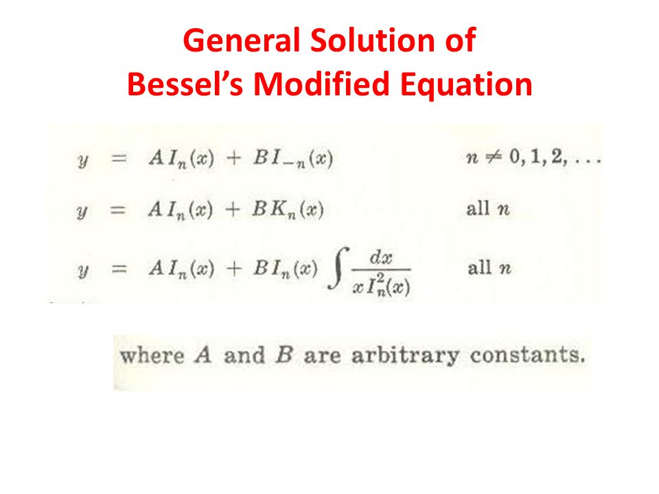 General Solution of Bessels Modified Equation