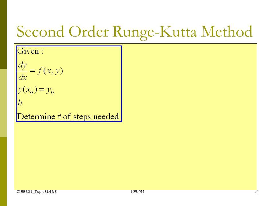 CISE301_Topic8L4&5KFUPM34 Second Order Runge-Kutta Method