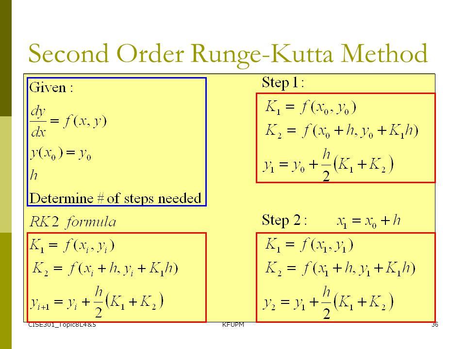 CISE301_Topic8L4&5KFUPM36 Second Order Runge-Kutta Method