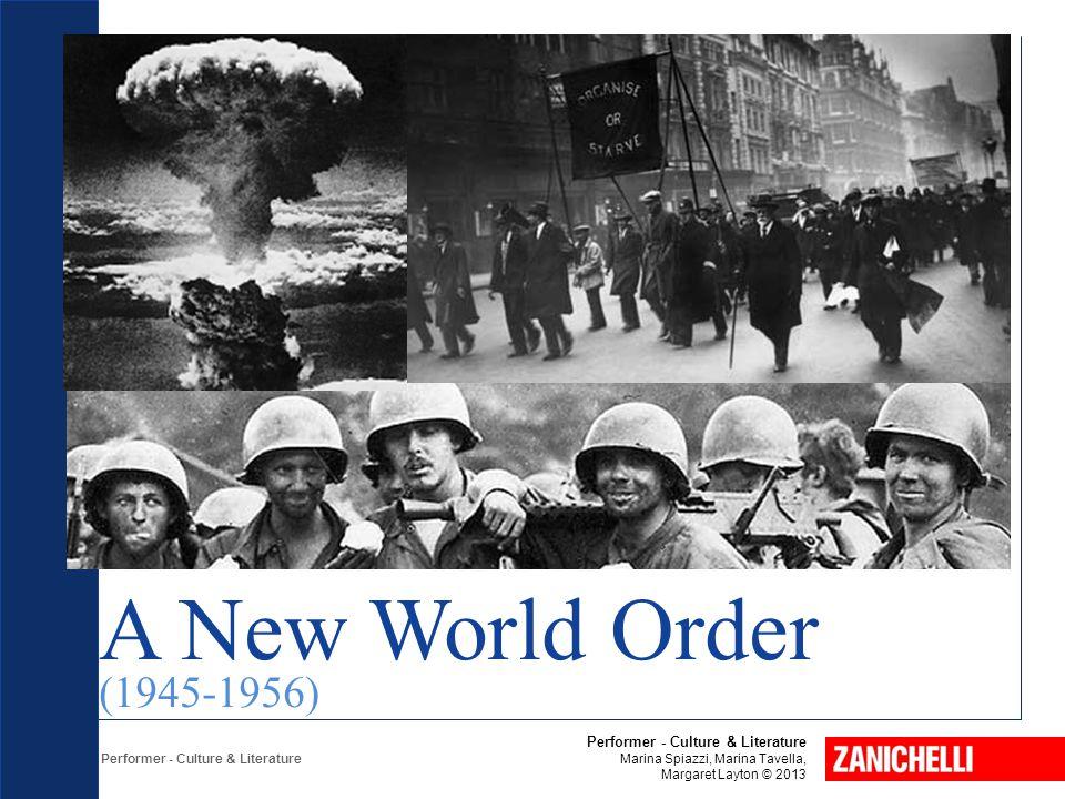 Performer - Culture & Literature Marina Spiazzi, Marina Tavella, Margaret Layton © 2013 A New World Order (1945-1956)