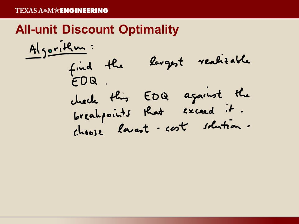All-unit Discount Optimality