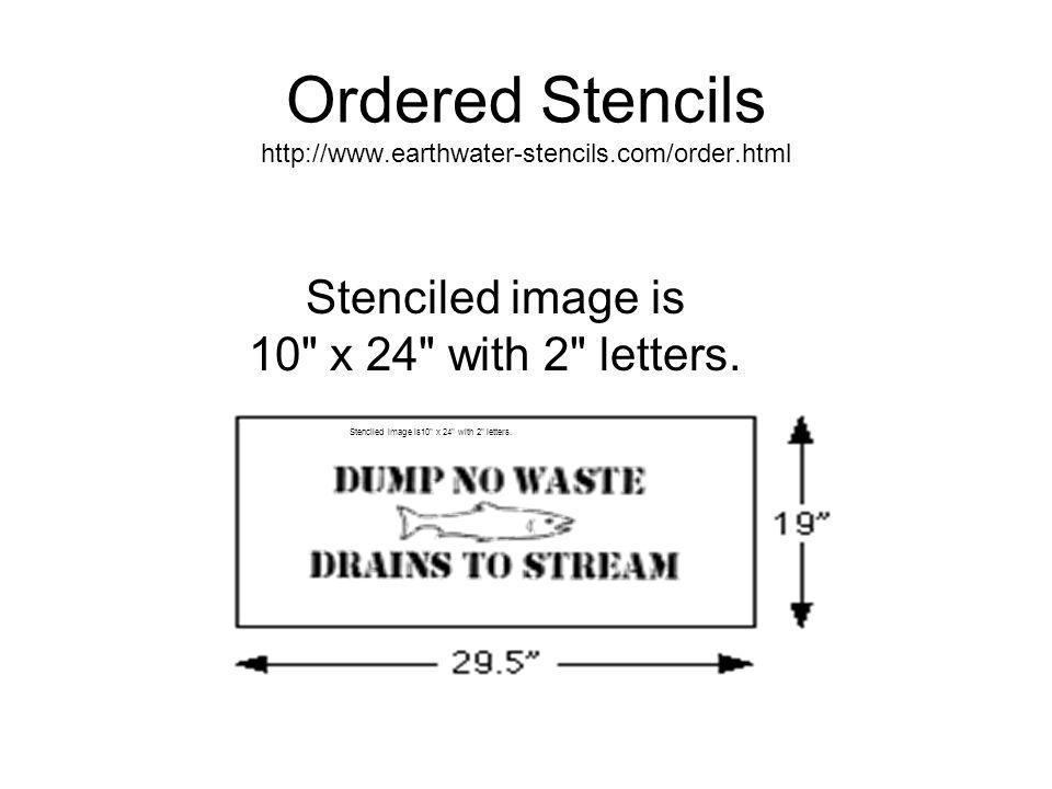 Stencil Prices* Minimum order - 25 stencils QUANTITYCOST EA.**SAVINGS**SAMPLE COST** 25-49$15.5025 = $387.50 50-99$14.0010% discount50 = $700.00 100-249$13.5013% discount100 = $1350.00 250-499$12.4020% discount250 = $3100.00 500+$10.0035% discount500 = $5000.00 *Prices as of 4/00.