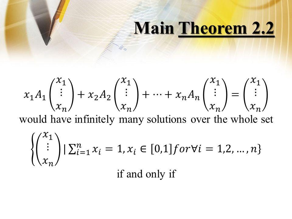 Main Theorem 2.2