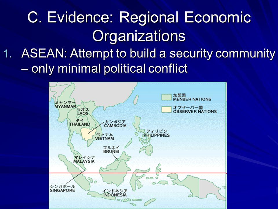 C. Evidence: Regional Economic Organizations 1.