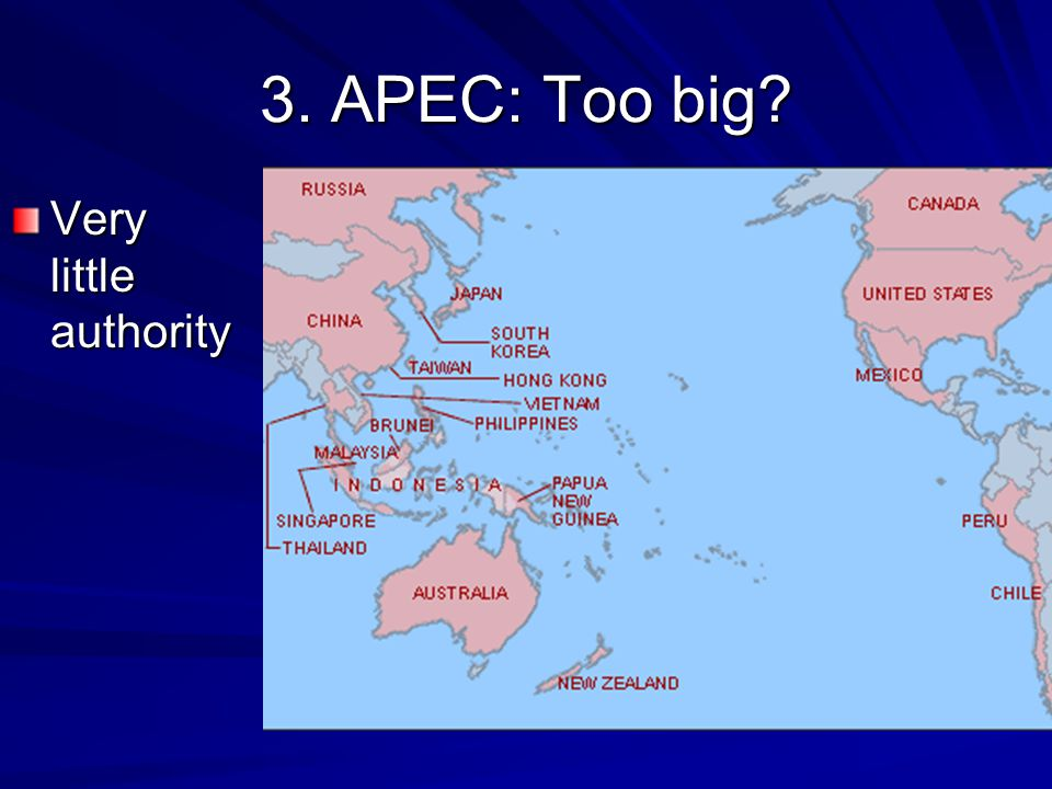 3. APEC: Too big Very little authority