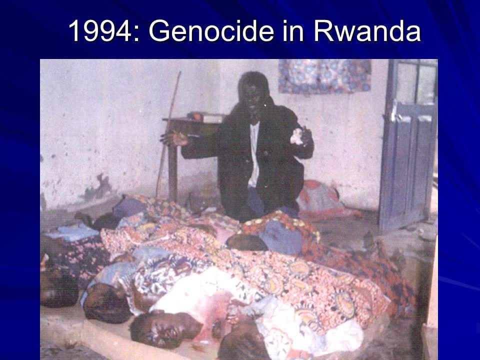1994: Genocide in Rwanda