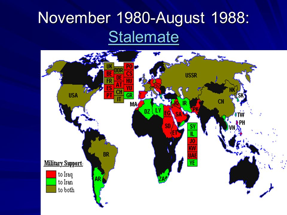 November 1980-August 1988: Stalemate Stalemate