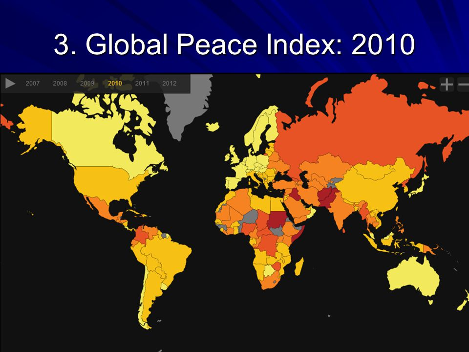 3. Global Peace Index: 2010