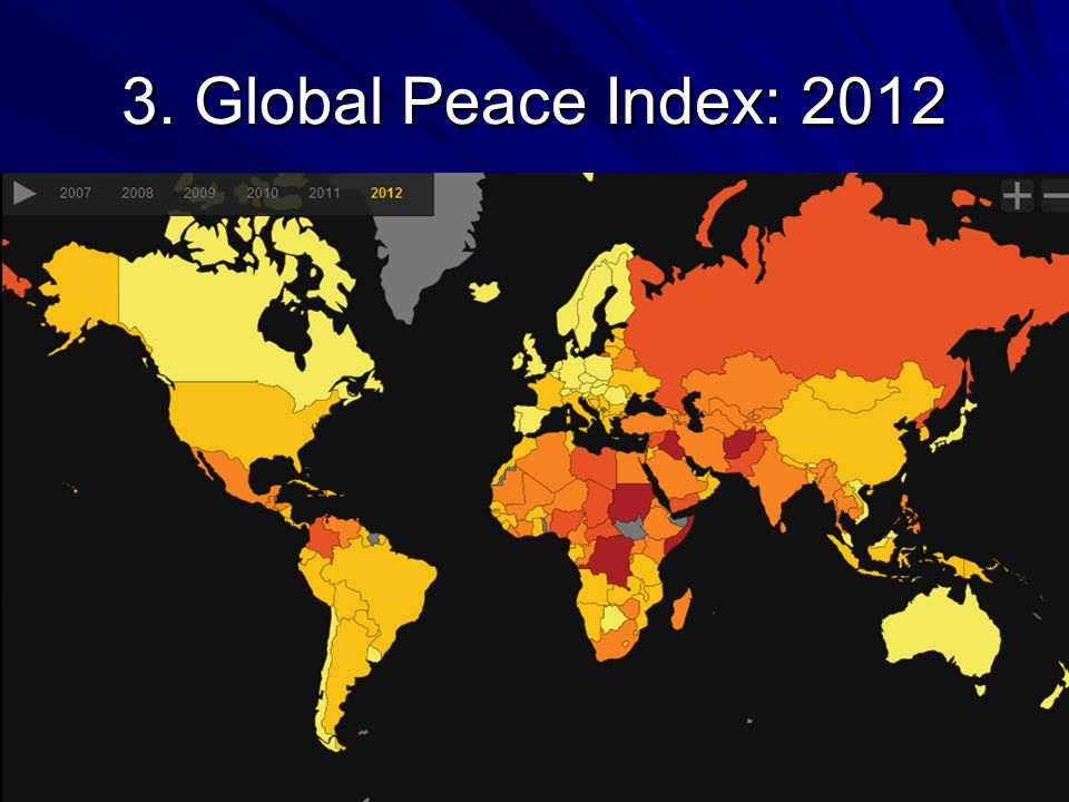 3. Global Peace Index: 2012