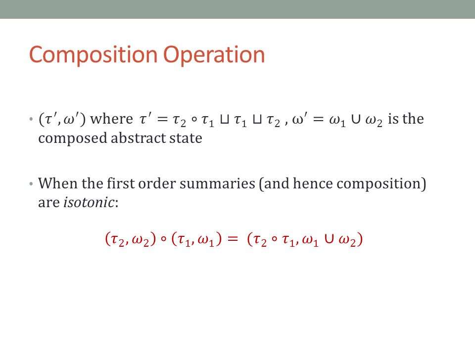 Composition Operation