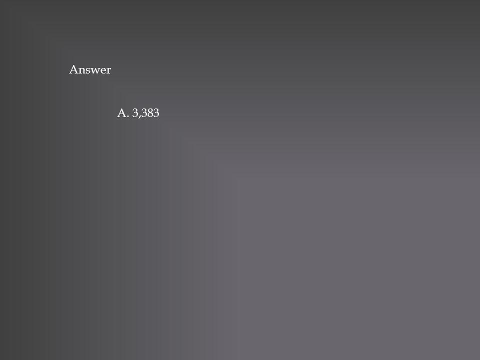 Answer A. 3,383