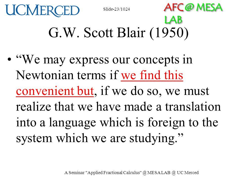 AFC @ MESA LAB G.W.