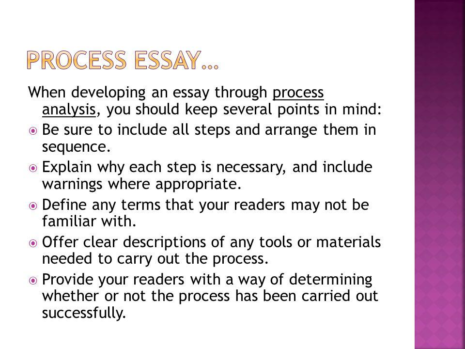 chapter 5 chronological order process essays
