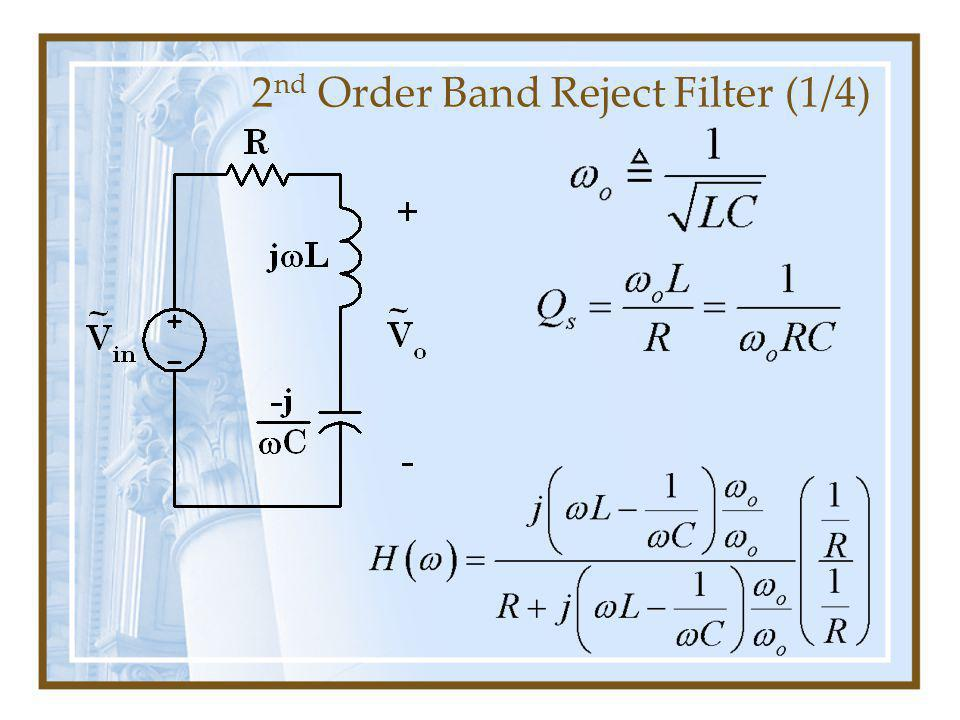 2 nd Order Band Reject Filter (1/4)