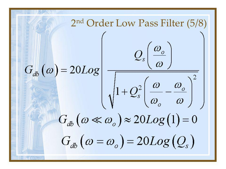 2 nd Order Low Pass Filter (5/8)