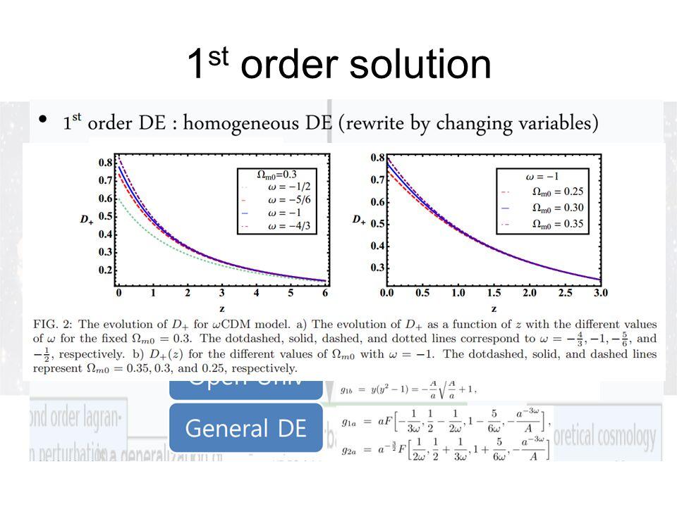 1 st order solution