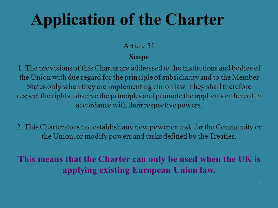 Application of the Charter Article 51 Scope 1.