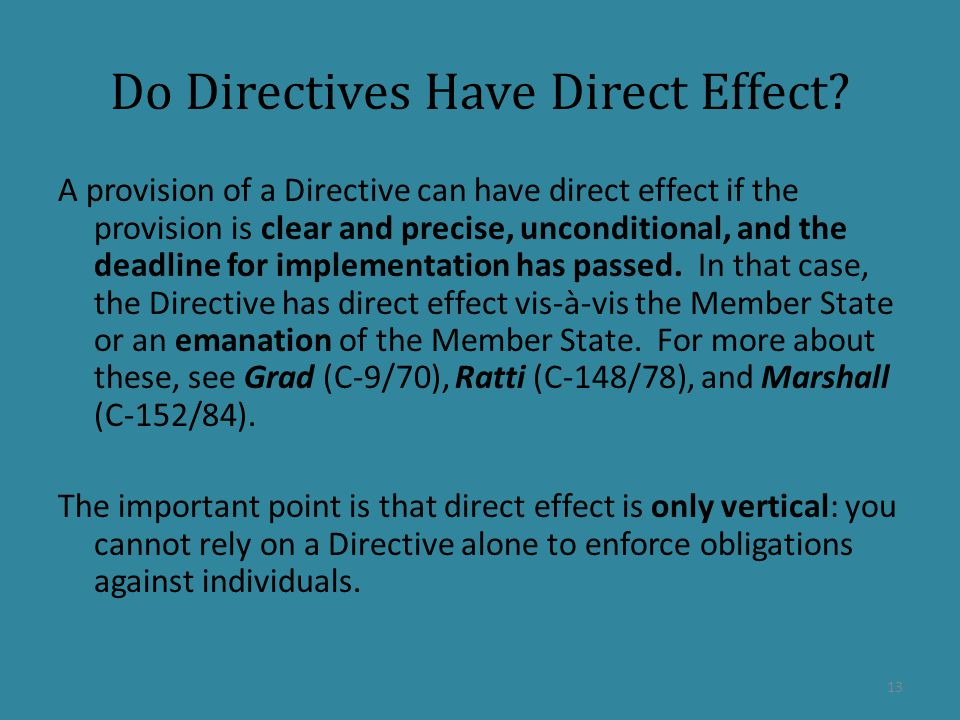Do Directives Have Direct Effect.