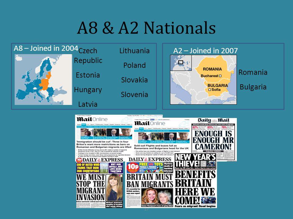 A8 & A2 Nationals 17 A8 – Joined in 2004 A2 – Joined in 2007 Czech Republic Estonia Hungary Latvia Lithuania Poland Slovakia Slovenia Romania Bulgaria