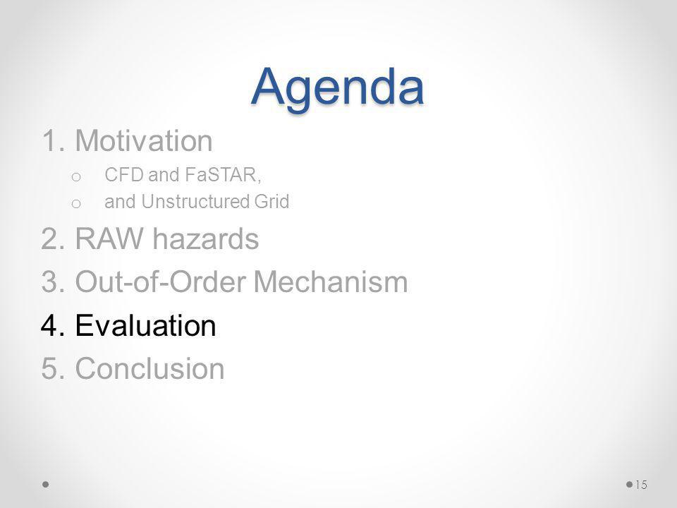 Agenda 1.Motivation o CFD and FaSTAR, o and Unstructured Grid 2.RAW hazards 3.Out-of-Order Mechanism 4.Evaluation 5.Conclusion 15