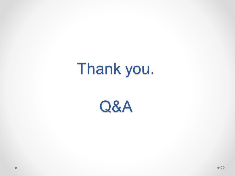 Thank you. Q&A 22