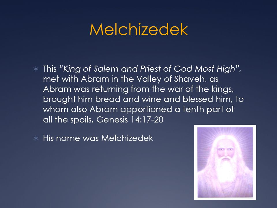Melchizedek Besides being Divine, Christ meets all the qualifications to be our Savior and to achieve the redemptive process and established for us a Divine priesthood