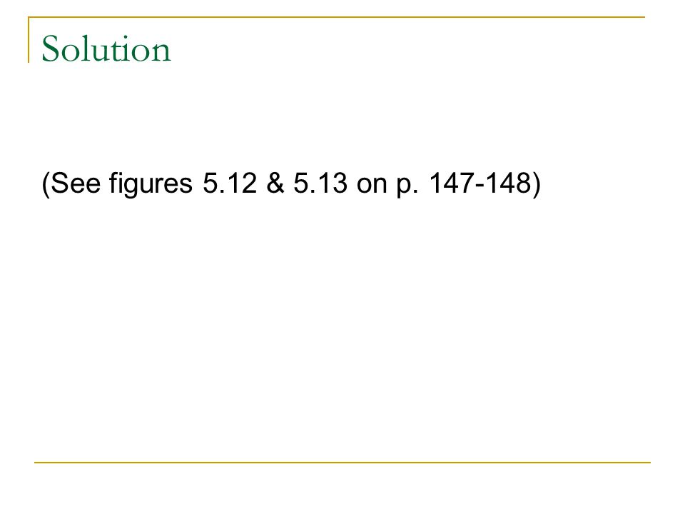 Solution (See figures 5.12 & 5.13 on p. 147-148)
