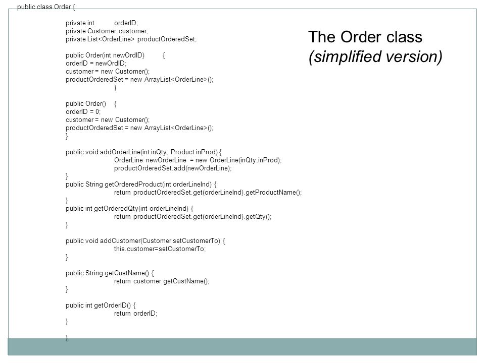 Inheritance Each class that is derived from the base class must implement the attributes and operations of the base class but can have its own version of each for example most of the calculateInterest operations will be different, but they will all be called calculateInterest.