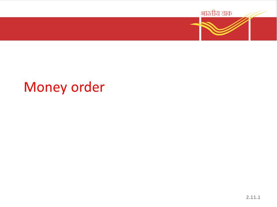 Money order 2.11.1