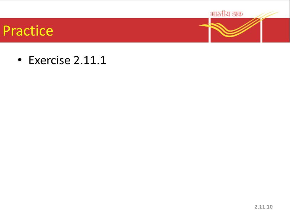 Practice Exercise 2.11.1 2.11.10