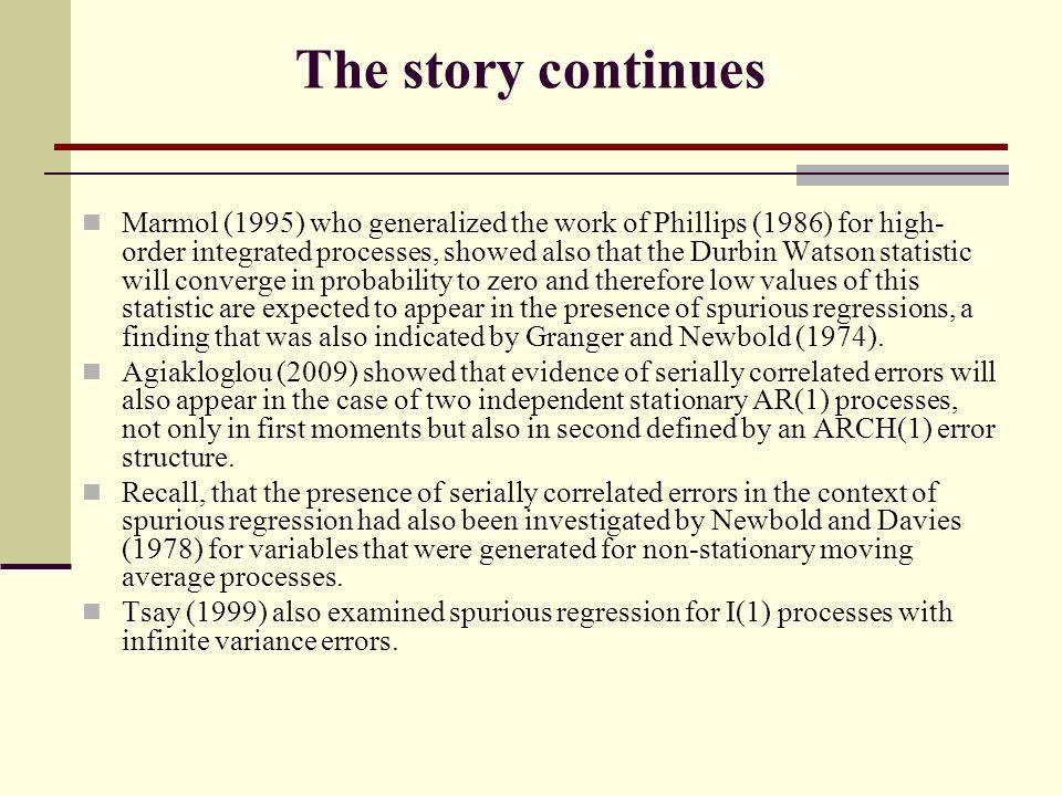 Two Examples Harvey ( 1980) Econometrics – Alchemy or science.
