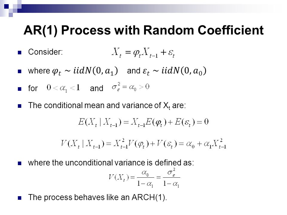 AR(1) Process with Random Coefficient