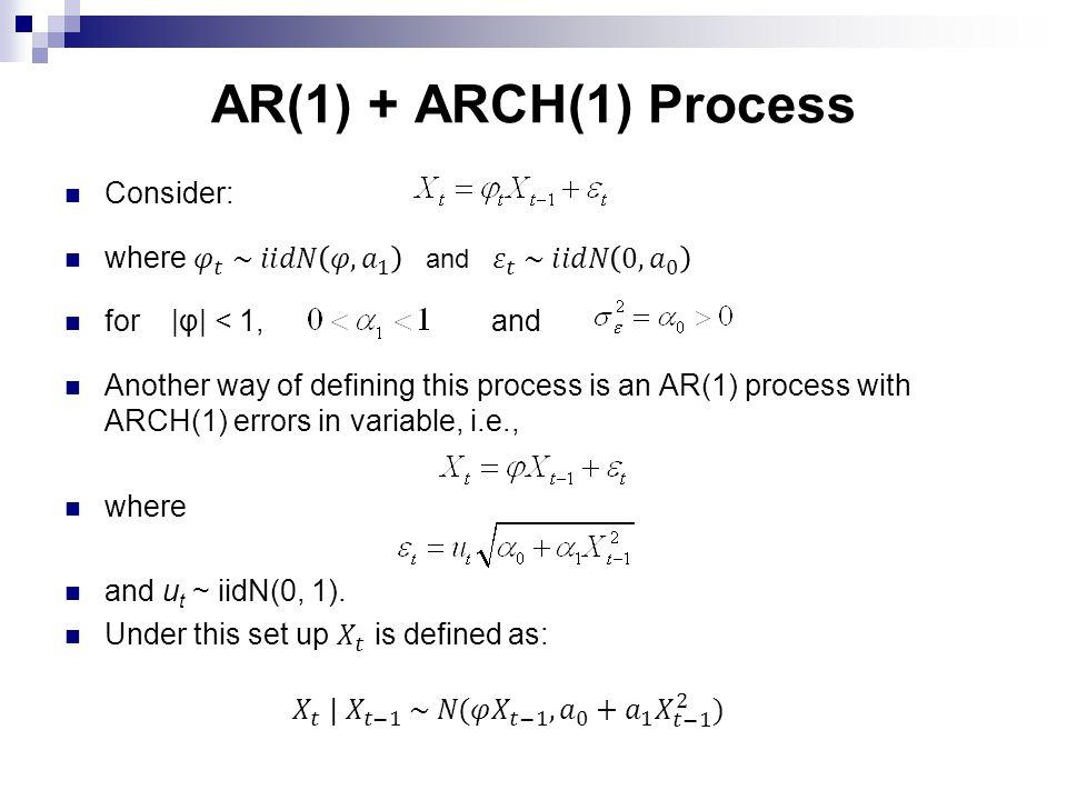 AR(1) + ARCH(1) Process