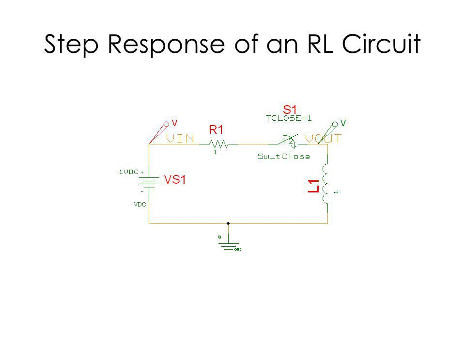 Step Response of an RL Circuit