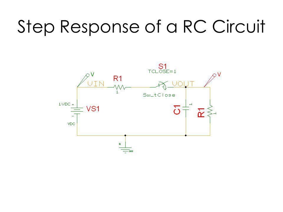 Step Response of a RC Circuit