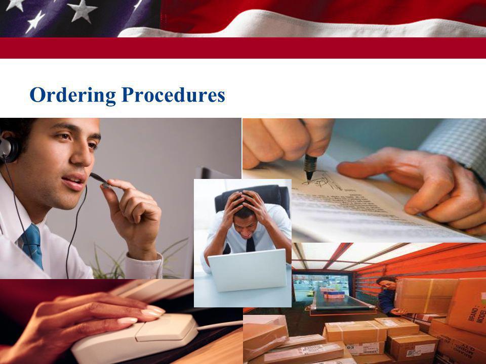 17 Ordering Procedures