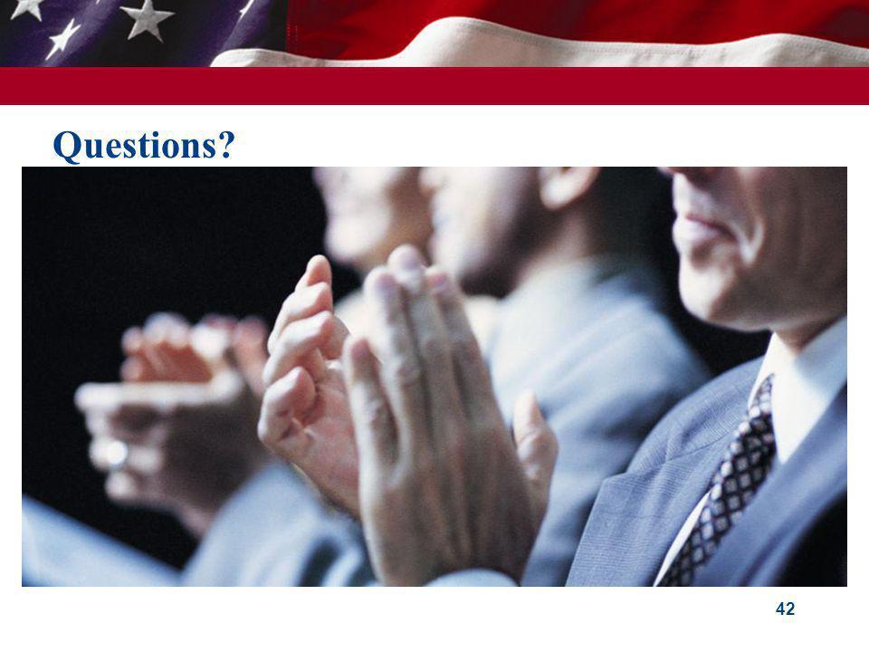 Questions? 42