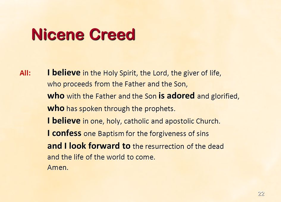 23 Apostles Creed The Apostles Creed can also be used, especially during Lent and Easter.