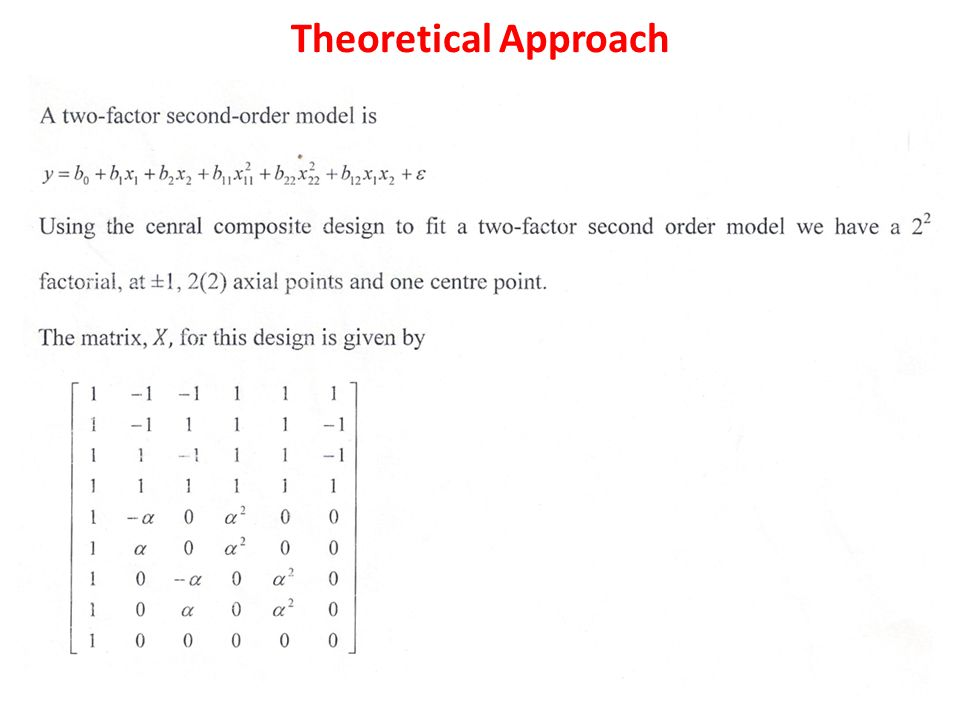 Theoretical Approach