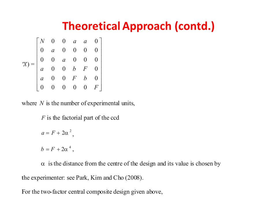 Theoretical Approach (contd.)