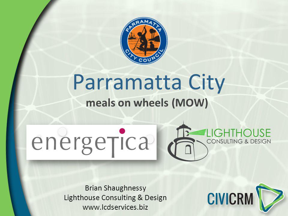 Parramatta City meals on wheels (MOW) Brian Shaughnessy Lighthouse Consulting & Design www.lcdservices.biz