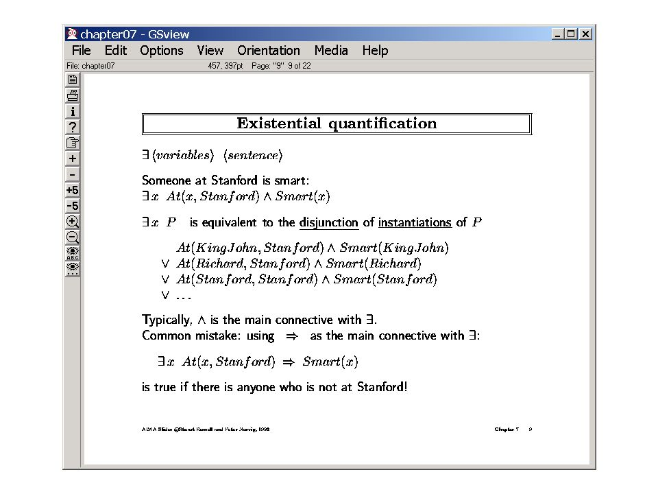 Important facts about quantifiers Forall and There-exists are related through negation..