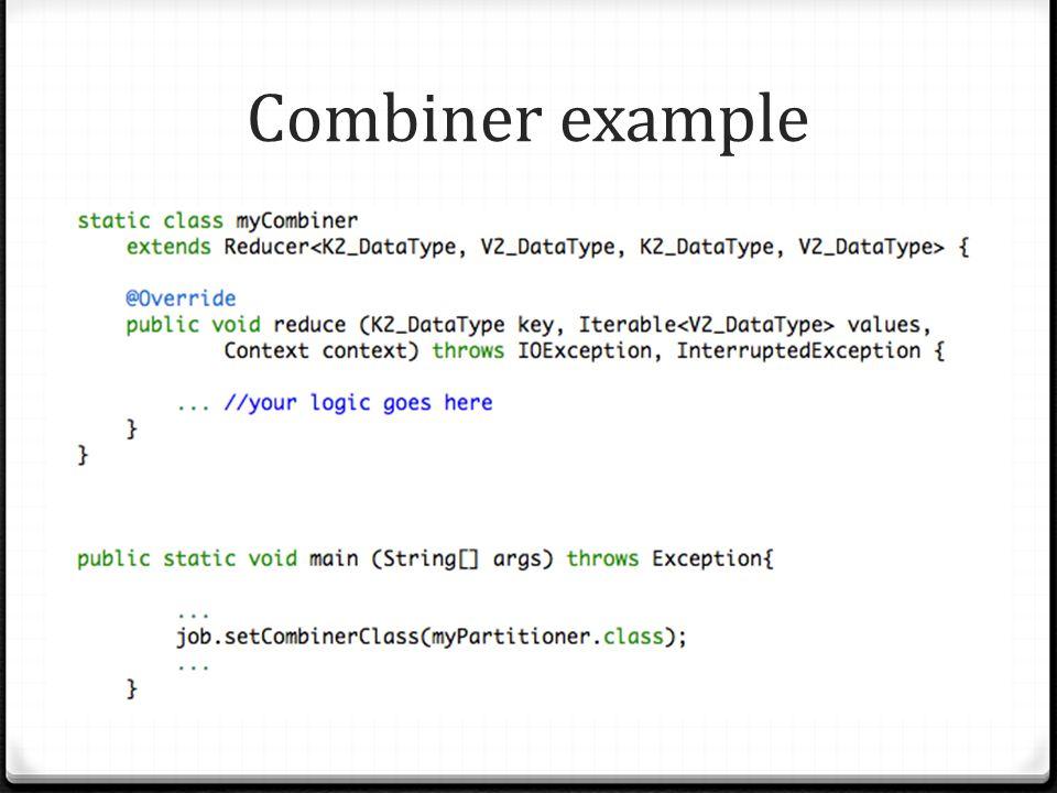Combiner example