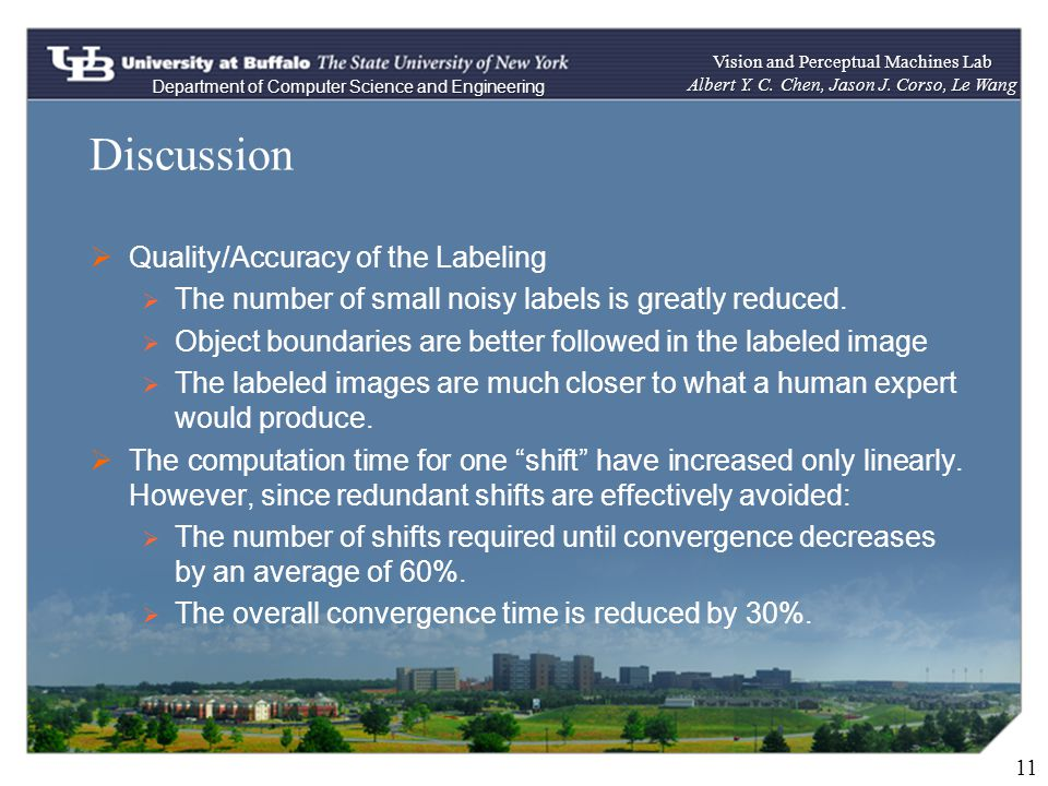 Discussion 11 Quality/Accuracy of the Labeling The number of small noisy labels is greatly reduced.