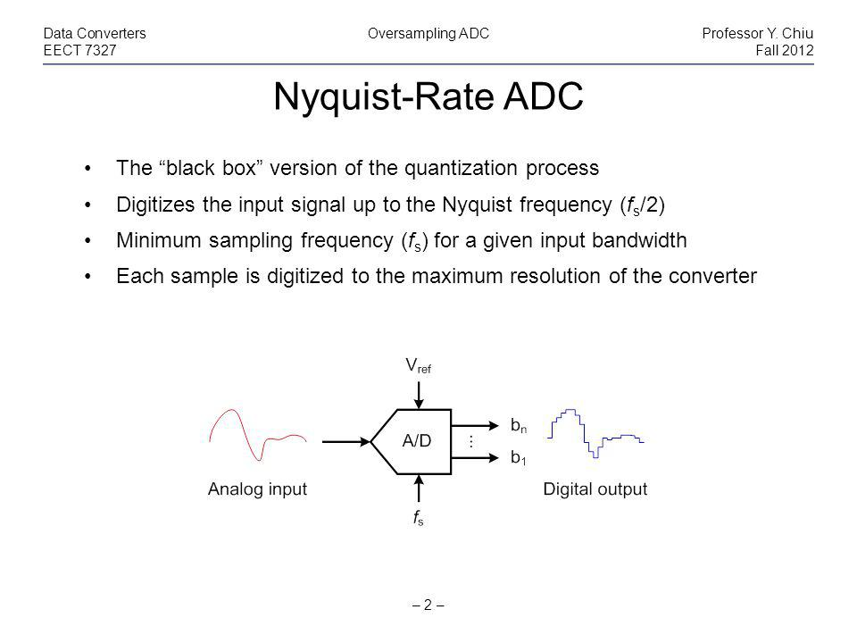 Nyquist-Rate ADC – 2 – Data ConvertersOversampling ADCProfessor Y.