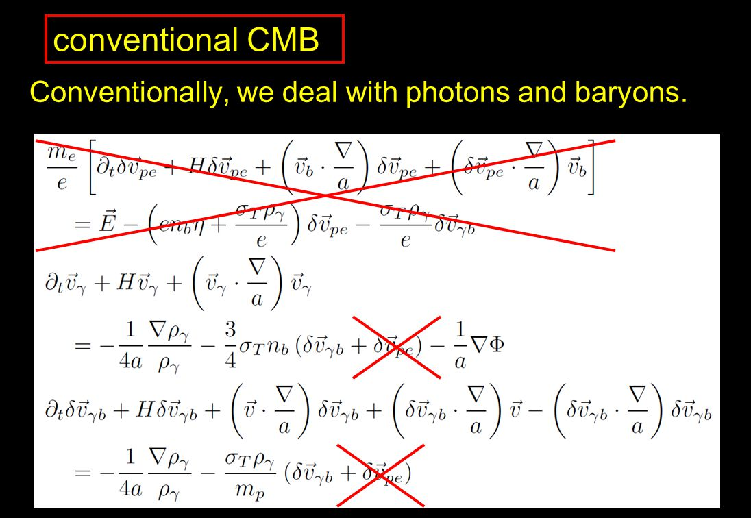 conventional CMB Conventionally, we deal with photons and baryons.