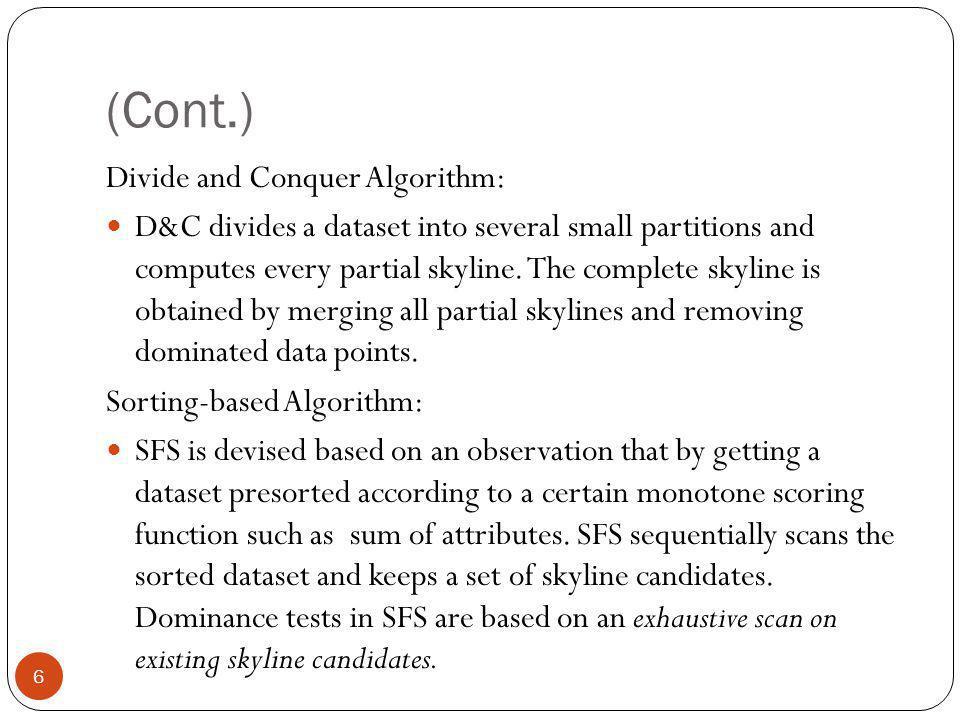 (Cont.) Hybrid Algorithm: Including Index, NN, and BBS.